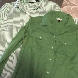 Set of two button up shirts. Size large